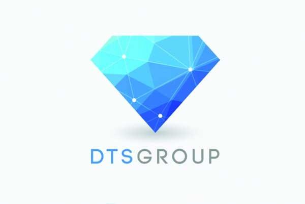 DTS logo + bộ nhận diện