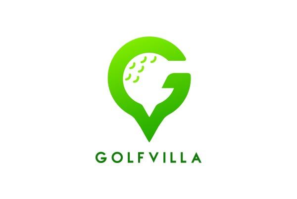 GolfVilla logo + bộ nhận diện