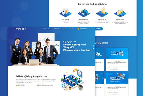 WorkPro landing page